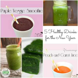 5 Healthy Drink Recipes for the New Year {Roundup}