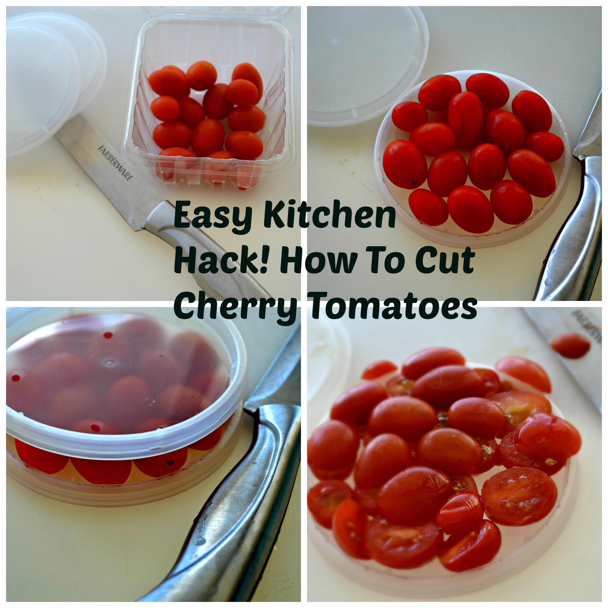 How to cut cherry tomatoes kitchen hack
