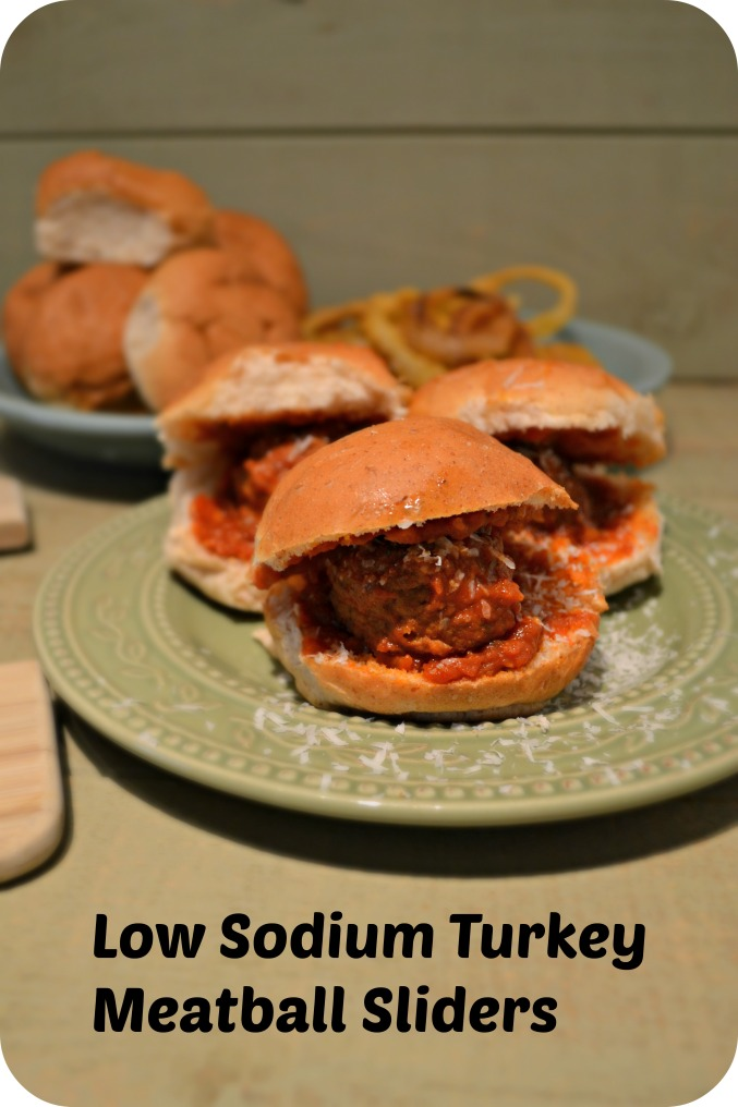 Easy Semi-Homemade Low Sodium Turkey Meatball Sliders