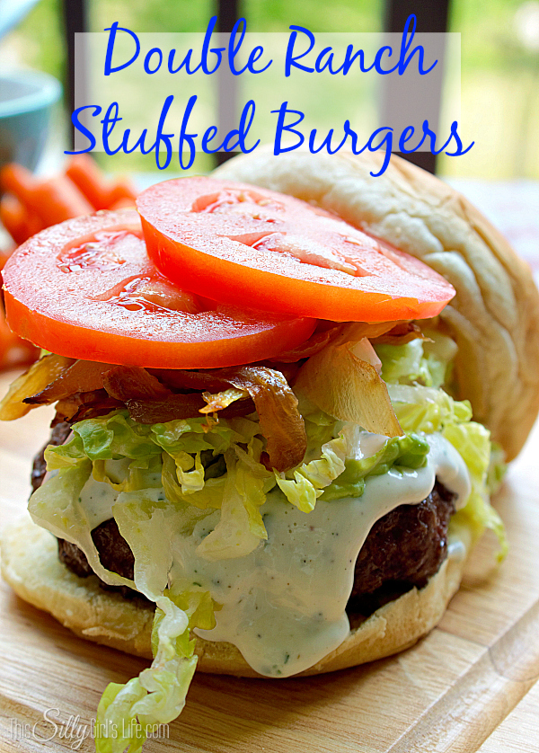 Double Ranch Stuffed Burgers