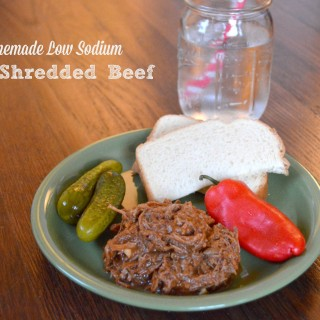 Shredded BBQ Brisket {Homemade Low Sodium BBQ Sauce}