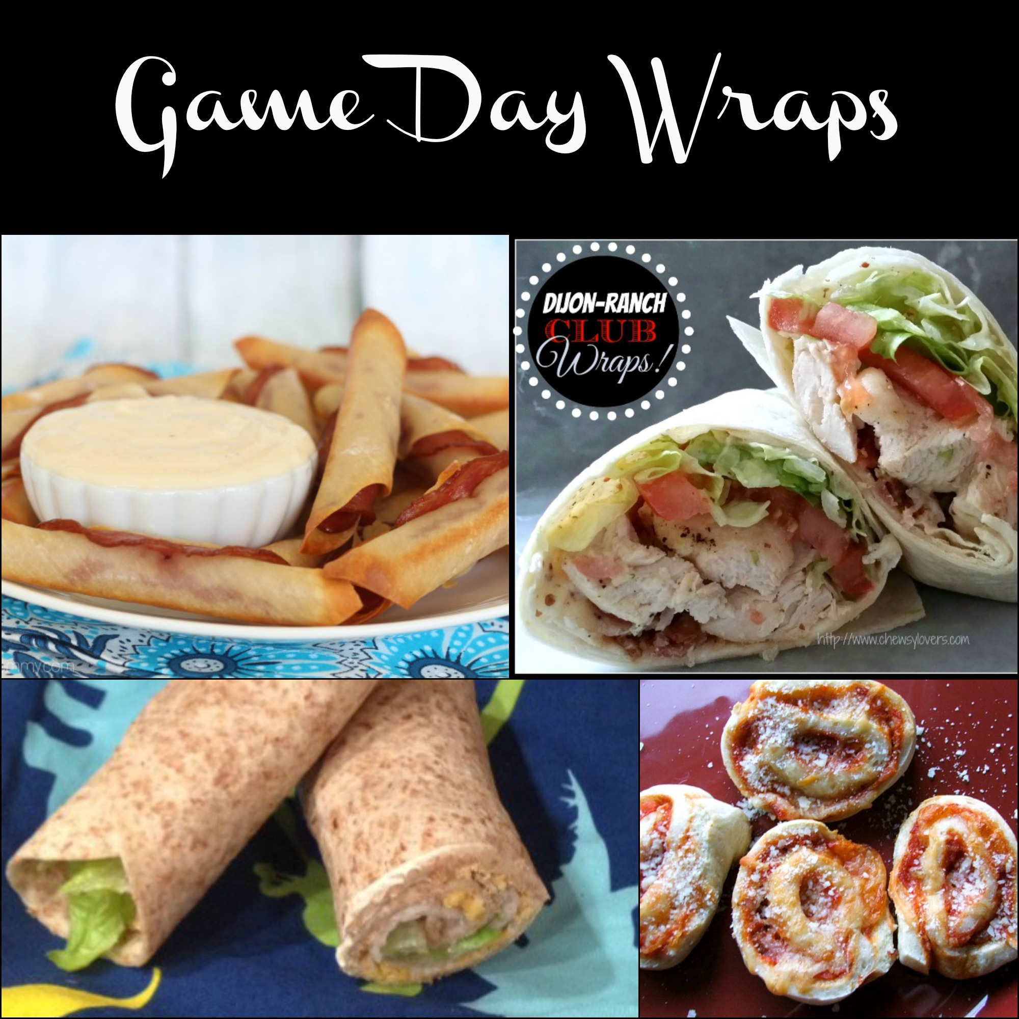wraps, rollups, party foods, sandwich snacks