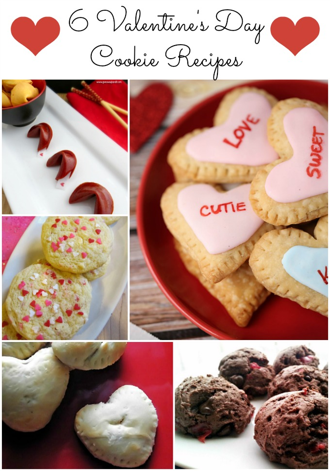 Valentine's Day cookies, cookie recipes, heart shaped cookies