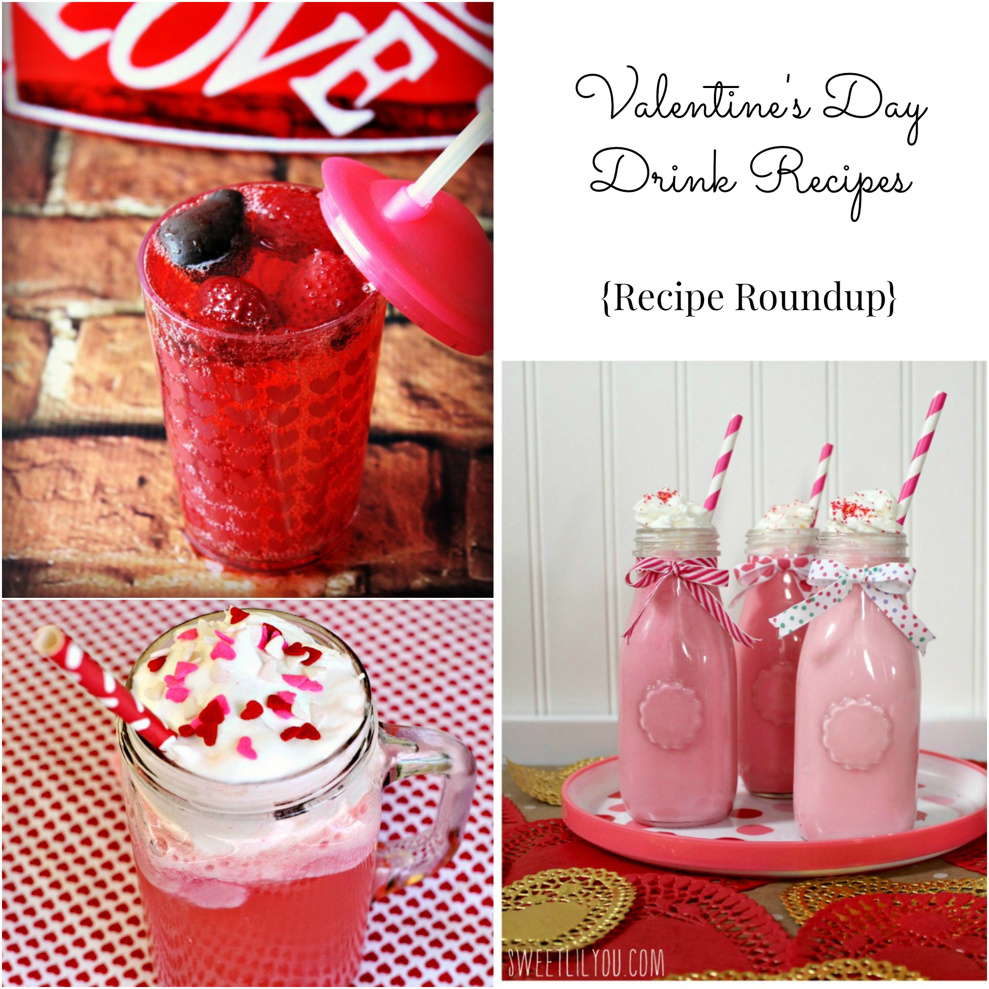 Valentine's Drinks, red drink recipes