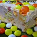 Frozen Yogurt Pie with Greek Yogurt for Probiotics Health