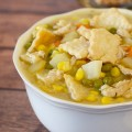 Easy Chicken Pot Pie Soup: A simple #WeekNightHero #SoFab #ad