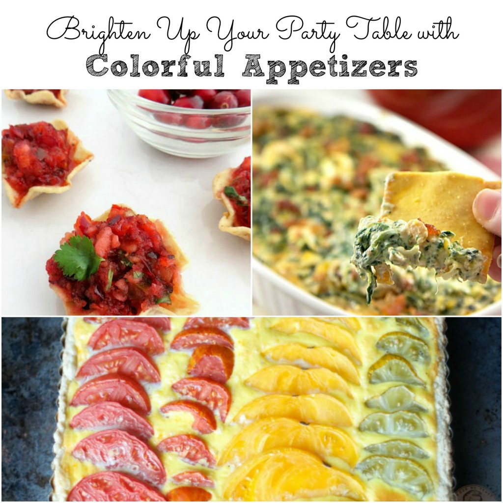 Colorful Appetizers to Brighten Up Your Party Table