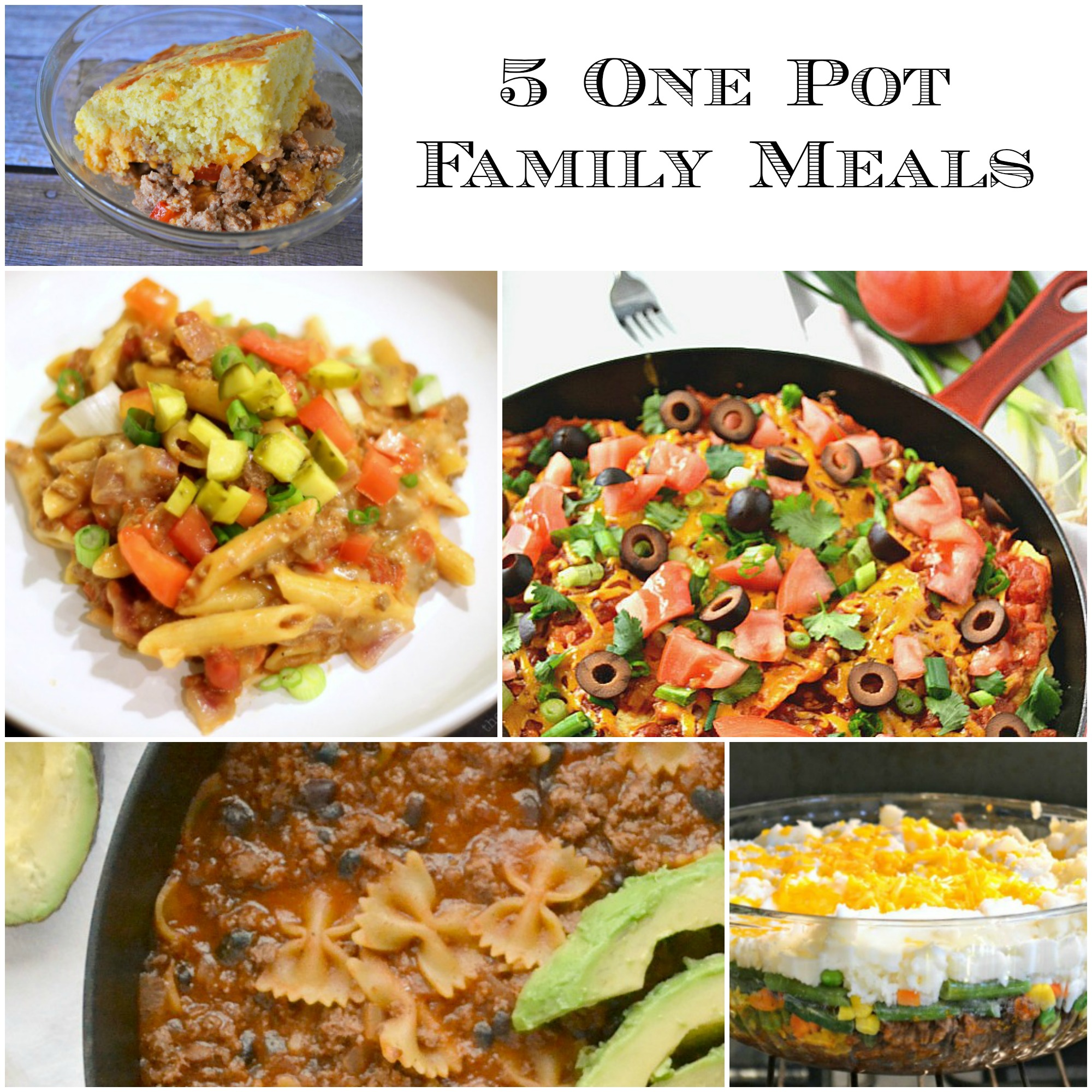 Easy Dinner Ideas One Pot Skillet Dinners And Casseroles SoFab