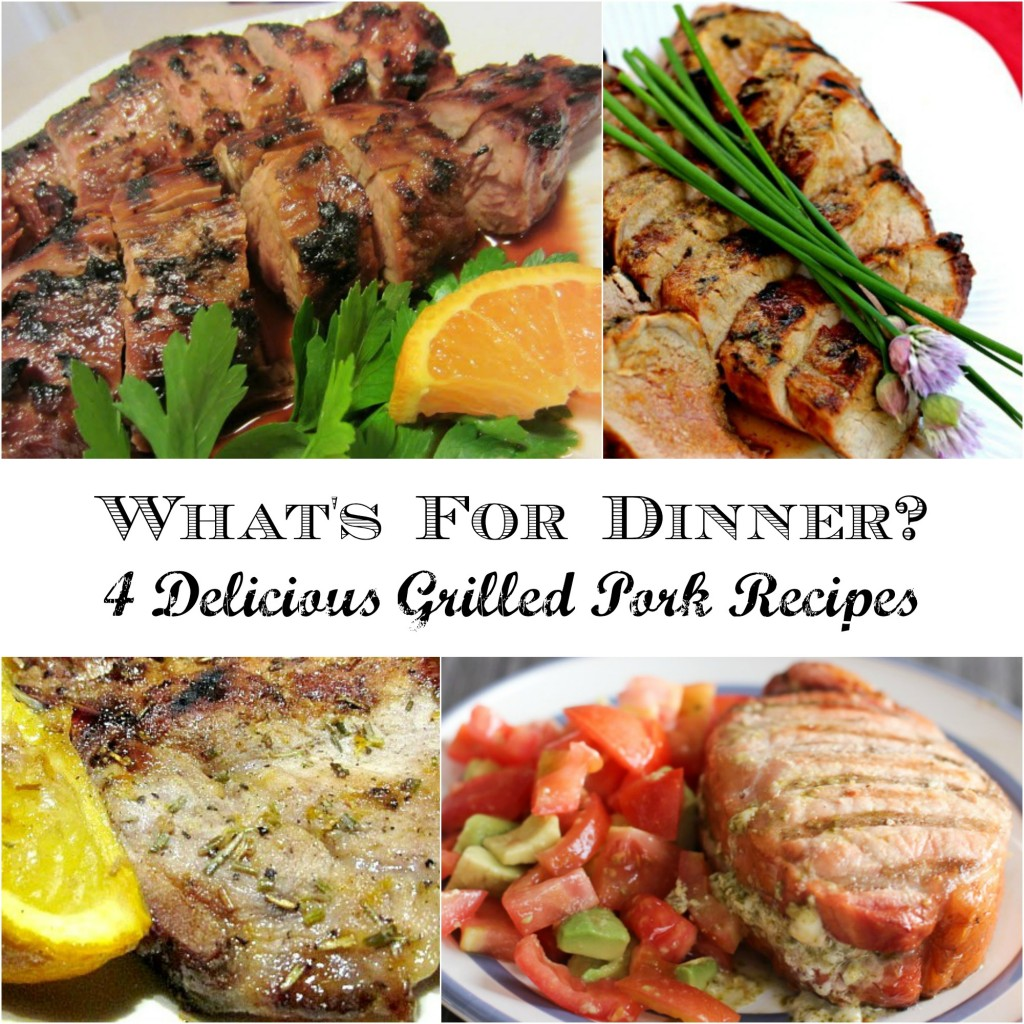4 Grilled Pork Recipes that are perfect for busy weeknights #SoFab