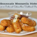 Homemade Mozzarella Sticks that are lower in carbs and sodium than traditional recipes #SoFab