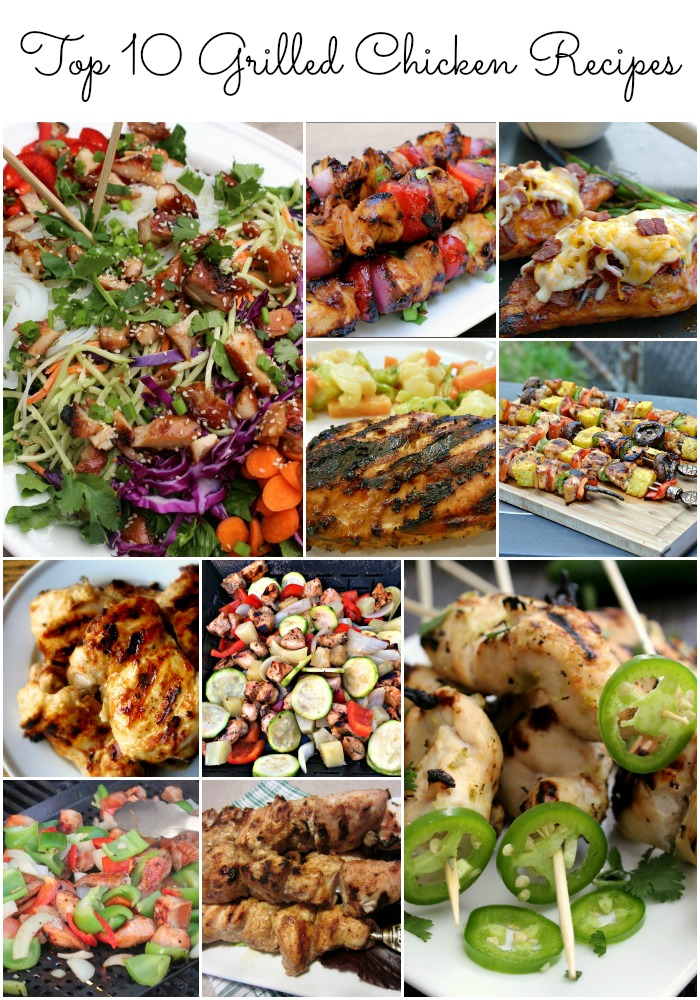 Break out the grill for spring! Top 10 Grilled Chicken Recipes #SoFab
