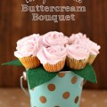 Berry Lemonade Buttercream Cupcake Bouquet #PourMoreFun #SoFab #ad