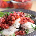 Grilled Mahi Mahi with Cherry Chipotle Salsa Recipe #SoFabFood