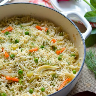 Vegetarian Carrot and Fennel One Pot Rice Recipe