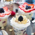 Berry Flower Pudding Cups