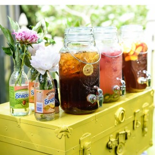 DIY Party Drink Station with Peach Moscato Punch