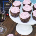 Chocolate Cupcakes with Merlot Buttercream Icing