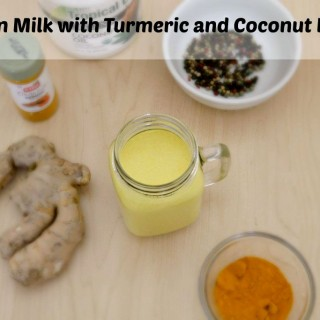 Golden Milk Recipe made with Turmeric and Coconut Milk