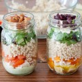 Salads are a great way to use up those odds and ends in the refrigerator and these Healthy Mason Jar Salads are perfect for busy weekdays. Make them ahead of time so you always have a delicious lunch you can grab on the go.