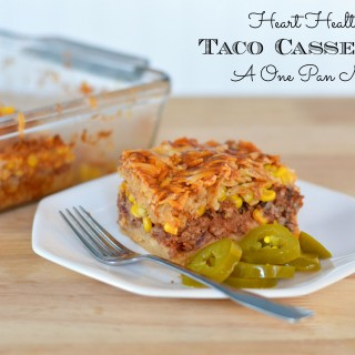 One Pan Heart Healthy Taco Casserole