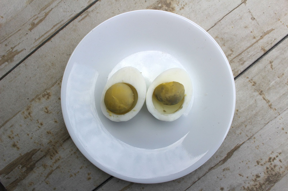 Grey, Overcooked Hard Boiled Eggs - Learn how NOT to get these results!