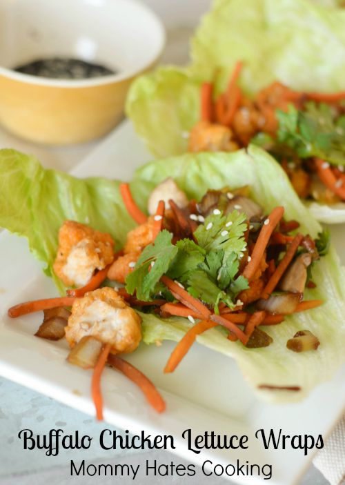 Semi Homemade Buffalo Chicken Lettuce Wraps