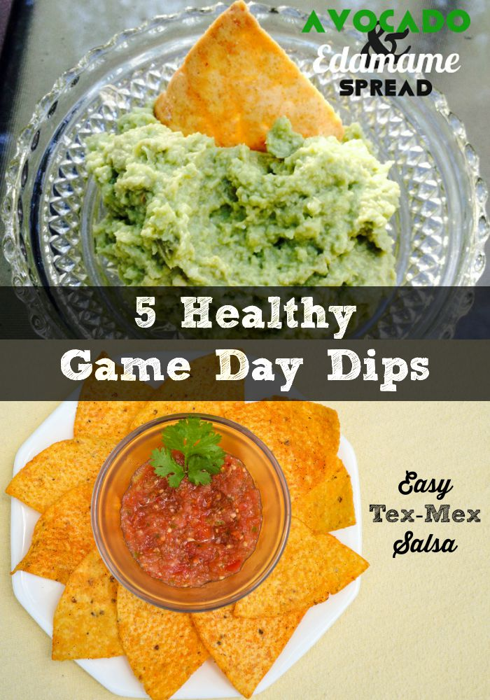 healthy game day dips roundup