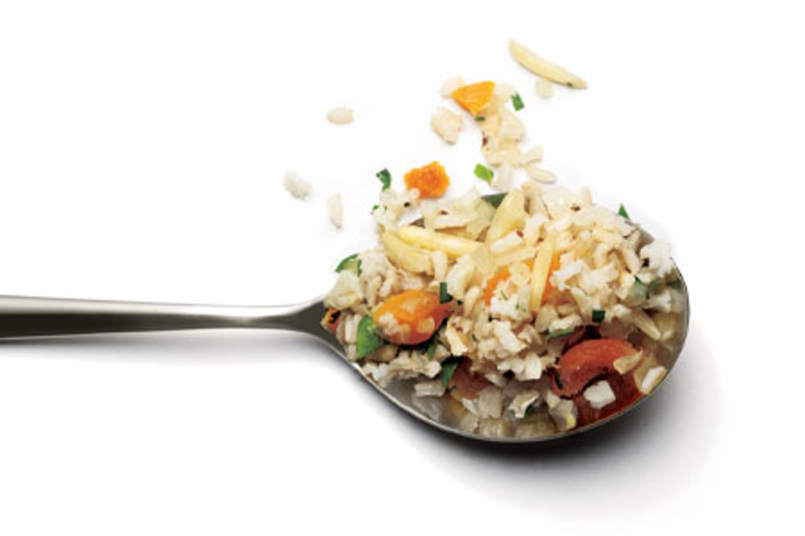 Brown Rice Pilaf with Apricots and Almonds Photo via: WomensHealthMag.com