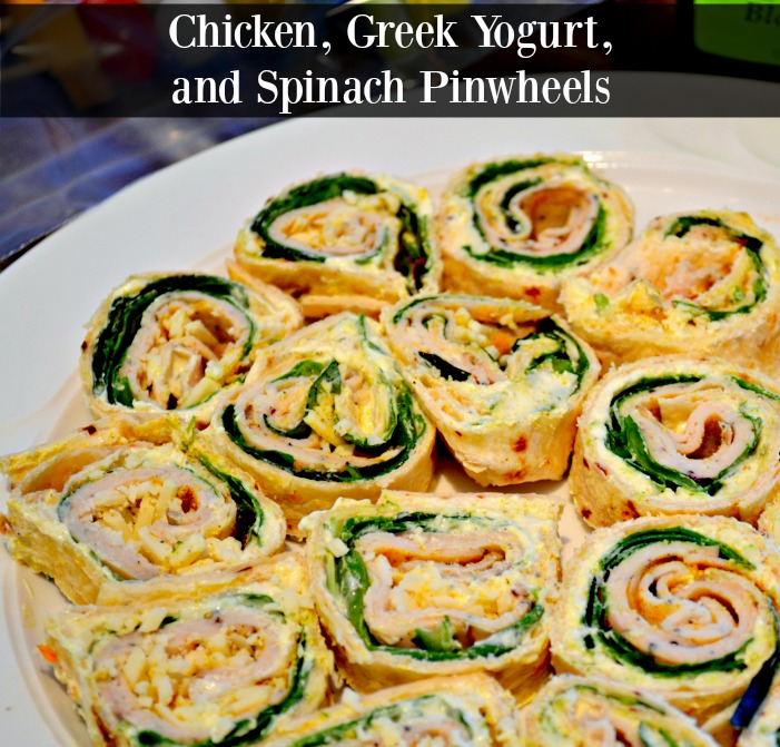 Chicken, Greek Yogurt, and Spinach Pinwheel Appetizers