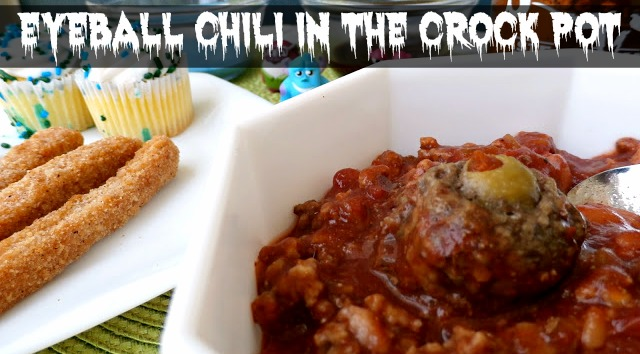 Crock Pot Eyeball Chili for your Monster Bash