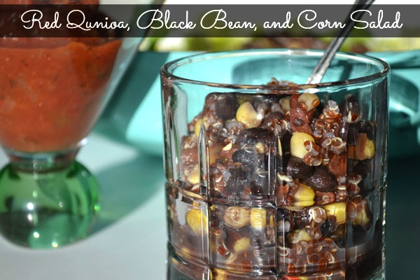 Red Quinoa, Black Bean, and Corn Salad Recipe