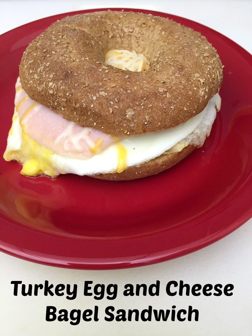 Turkey, Egg, and Cheese Bagel Sandwich with Video