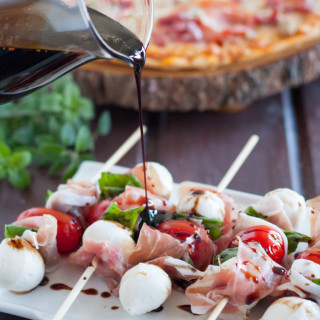 Italian Salad Skewers with Balsamic Glaze