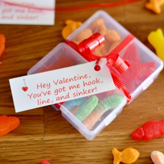 DIY Valentine's Day Tackle Box Food Gift