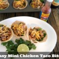 Easy Mini Chicken Taco Bites