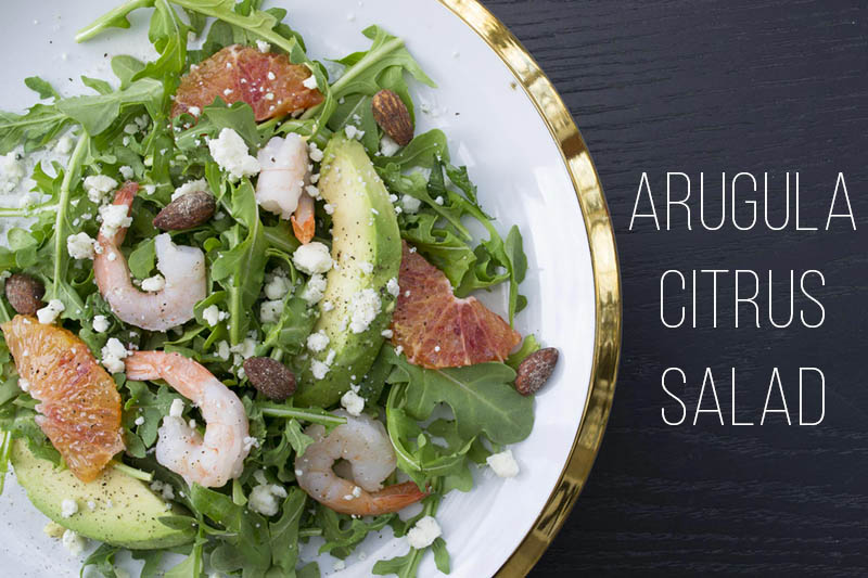 An easy winter salad, Arugula Citrus Salad