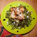 healthy recipe,Seared Scallops on a Broccoli Salad with a Balsamic Reduction