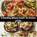 5 Healthy Meals Under 10 Grams of Fat