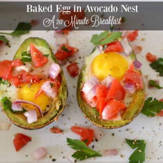 Baked Egg in Avocado Nest Ready in 20 Minutes