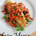 Easy Tilapia with Olives and Peppers