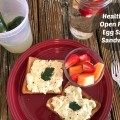 Open Faced Egg Salad Sandwich