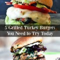 5 Grilled Turkey Burgers