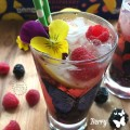Mixed Berry Lemonade Sparkler Mocktail