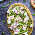 Spring Veggie Flatbread with Basil Pesto