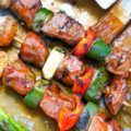 BBQ Beef and Vegetable Kebabs