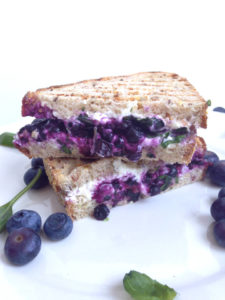 Blueberry Basil and Goat Cheese Panini Sandwich