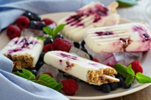 Blueberry Yogurt Breakfast Pops