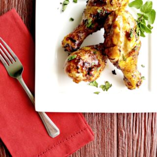 Grilled Lemonade BBQ Chicken Legs
