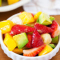 The PKP Way | This colorful and inviting Strawberry & Avocado Summer Fruit Salad is a refreshing summer snack that will help you maintain that bikini body you've been working diligently to achieve.