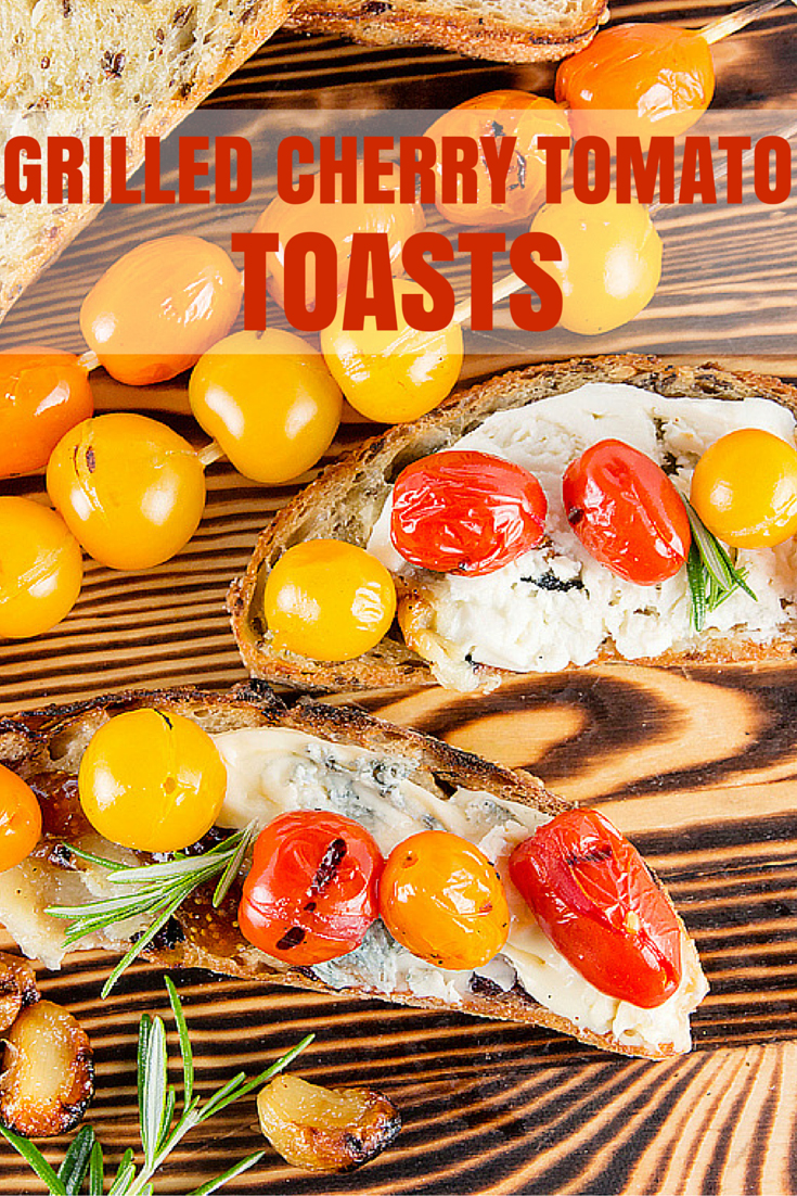 Grilled Cherry Tomato Toast